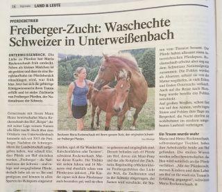 Der Freibergerhof in der Zeitung